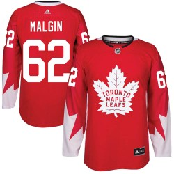 Denis Malgin Toronto Maple Leafs Youth Adidas Authentic Red Alternate Jersey