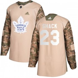 Eddie Shack Toronto Maple Leafs Youth Adidas Authentic Camo Veterans Day Practice Jersey