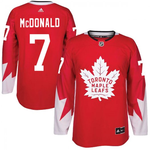 Lanny McDonald Toronto Maple Leafs Youth Adidas Authentic Red Alternate Jersey