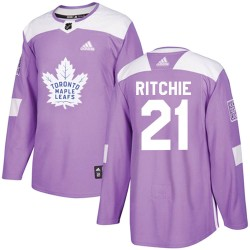 Nick Ritchie Toronto Maple Leafs Youth Adidas Authentic Purple Fights Cancer Practice Jersey