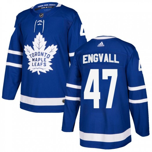 Pierre Engvall Toronto Maple Leafs Men's Adidas Authentic Blue Home Jersey