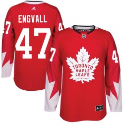 Pierre Engvall Toronto Maple Leafs Men's Adidas Authentic Red Alternate Jersey