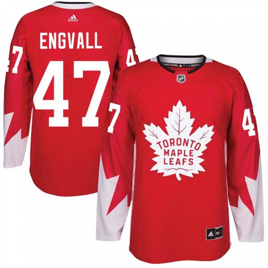 Pierre Engvall Toronto Maple Leafs Youth Adidas Authentic Red Alternate Jersey